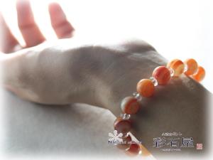 彩石屋,スピリチャルストーン,パワーストーンブレス,【装着写真】